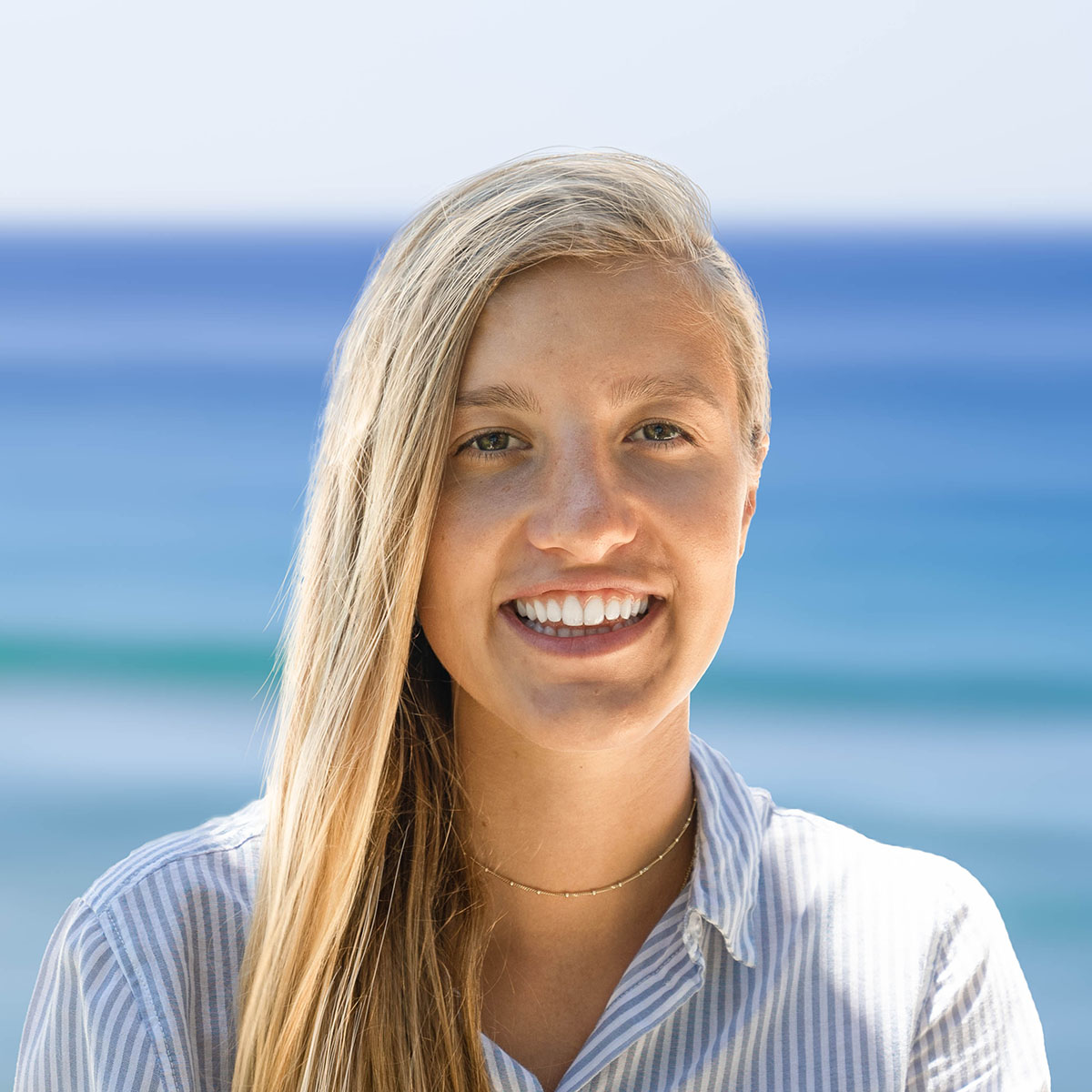 Portrait of Lea Dohm graphic designer and photographer of Oceanside Property